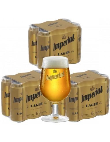 Combo Imperial Lager 473cc + 1 copa...