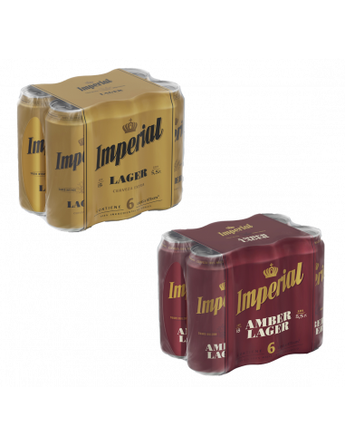 Pack Imperial Lager + Amber lager...