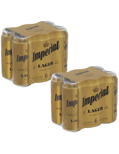 Pack Imperial Lager lata 473cc x 12